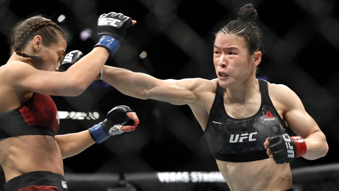 """""""Una de las mejores peleas de la historia"""": Campeona china retiene su título de UFC causando un hematoma a su rival (VIDEO)"""