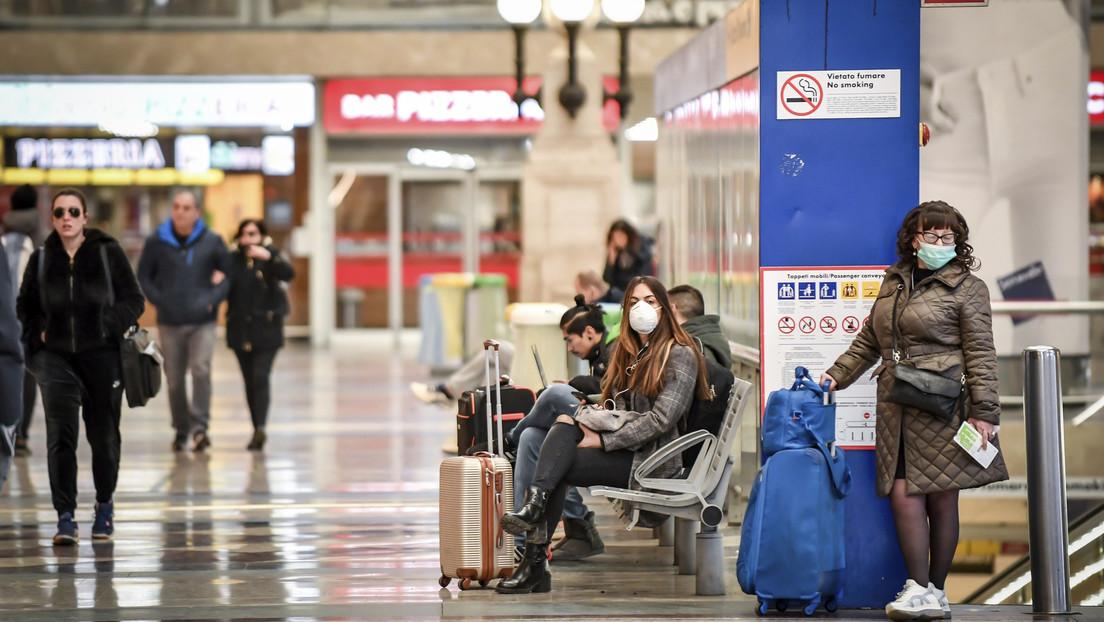 Unas 500 personas se apresuraron a tomar trenes en Milán antes de que se cerrara la región por el coronavirus (VIDEO)