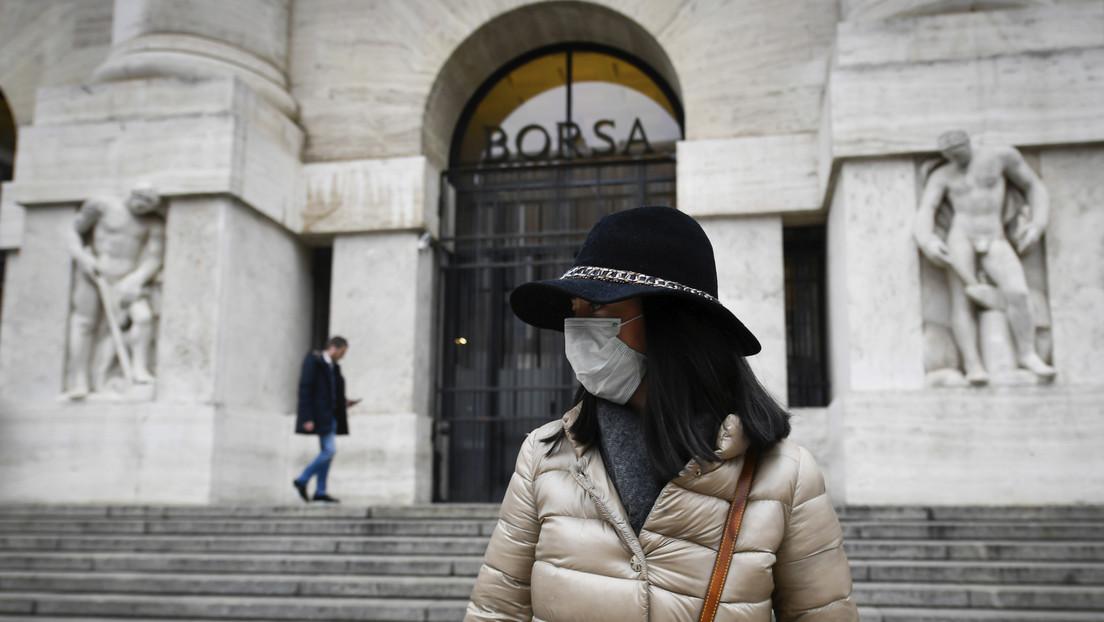 La principal bolsa de Italia cae más del 10 %