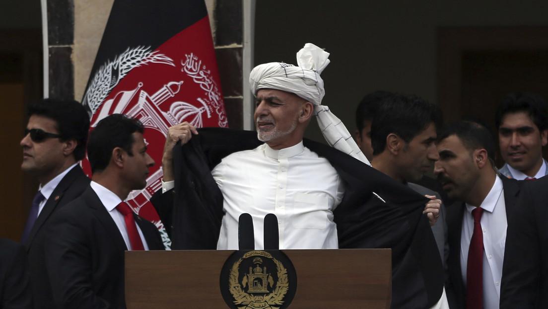 VIDEO: Lanzan varios misiles contra el Palacio Presidencial de Afganistán durante la toma de posesión del presidente