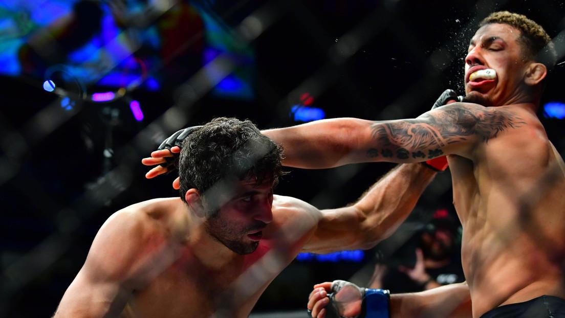 VIDEO: Luchador de la UFC 'apaga las luces' a su rival con un brutal nocaut que le sacó su protector bucal, dejando en 'shock' a los comentaristas