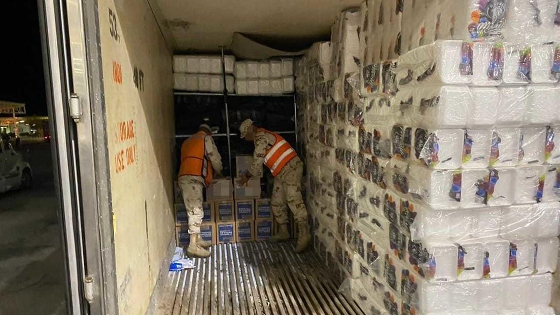 Detienen en México un camión con más de 15 toneladas de marihuana con un precio estimado de 1,2 millones de dólares