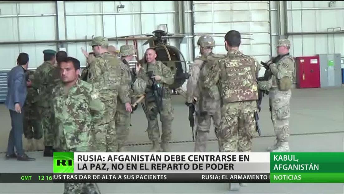 Moscú: Afganistán debe centrarse en el proceso de paz, no el en reparto de poder