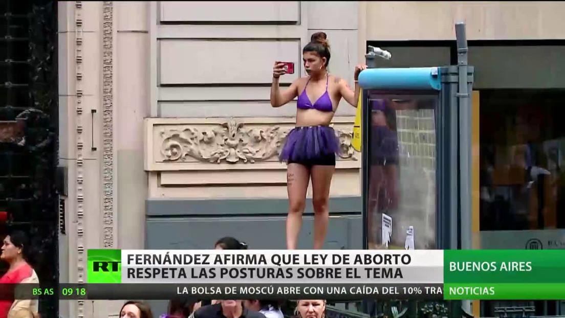 Argentina: Alberto Fernández afirma que la ley del aborto respeta las posturas sobre el tema