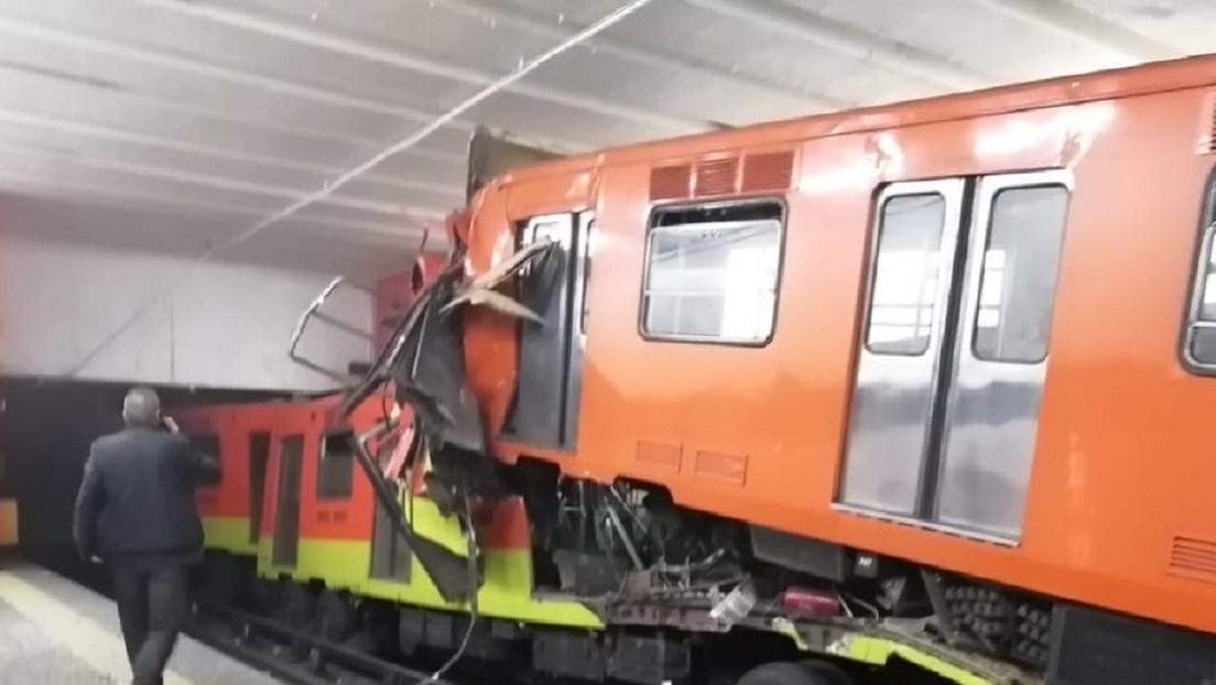 VIDEO: El choque de trenes en el Metro de México deja al menos un muerto y decenas de heridos
