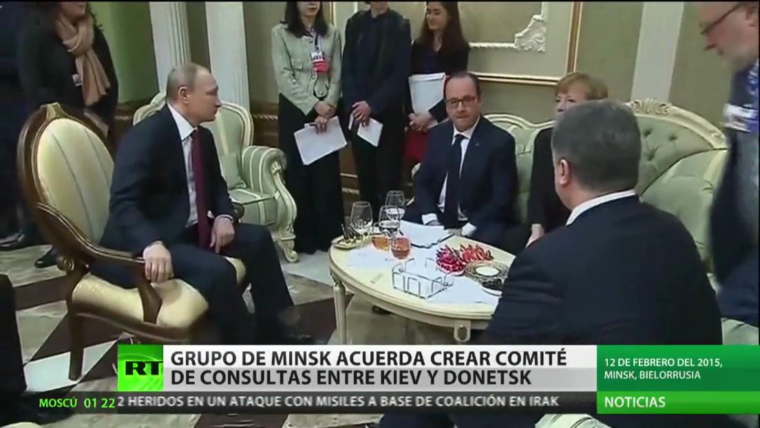 El Grupo de contacto de Minsk acuerda crear un comité de consultas entre Ucrania y Donetsk