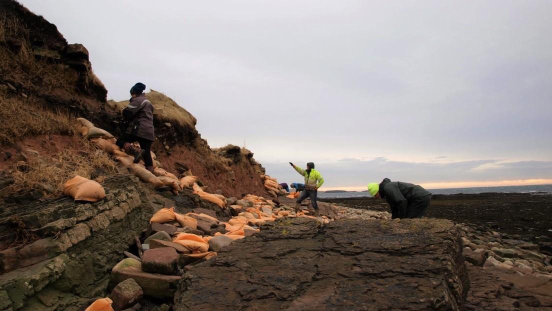 Fuertes lluvias en Escocia dejan al descubierto un cementerio picto y vikingo de casi 1.500 años de antigüedad
