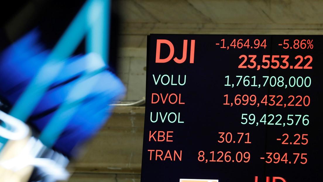 Las bolsas en EE.UU. cierran con la mayor caída desde el 'Lunes Negro' de 1987