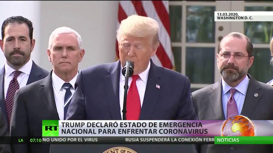 Trump declara el estado de emergencia nacional para enfrentar el coronavirus