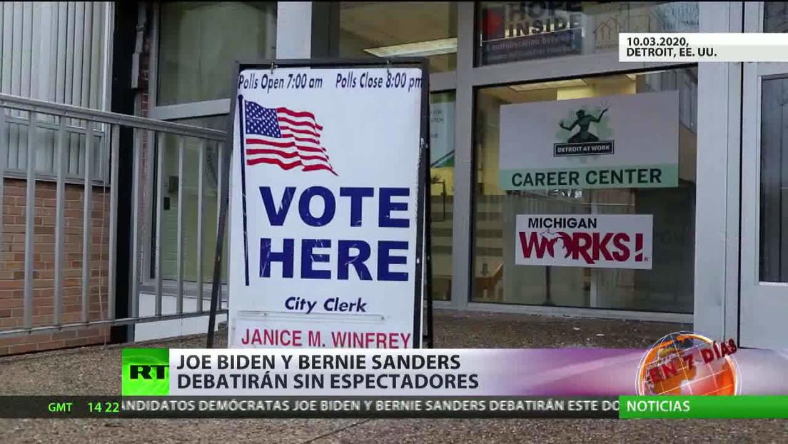 Joe Biden y Bernie Sanders debatirán sin espectadores en EE.UU.