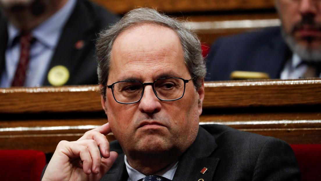 El presidente regional de Cataluña, Quim Torra, dio positivo para coronavirus