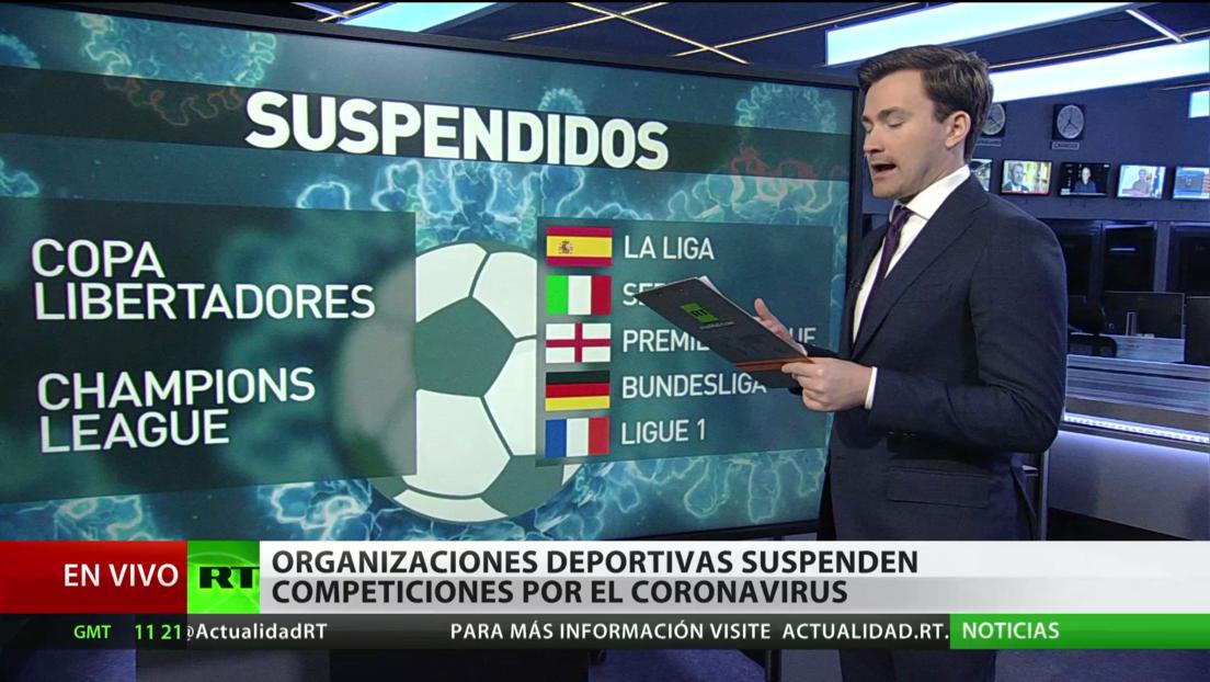Organizaciones deportivas suspenden competiciones por el coronavirus