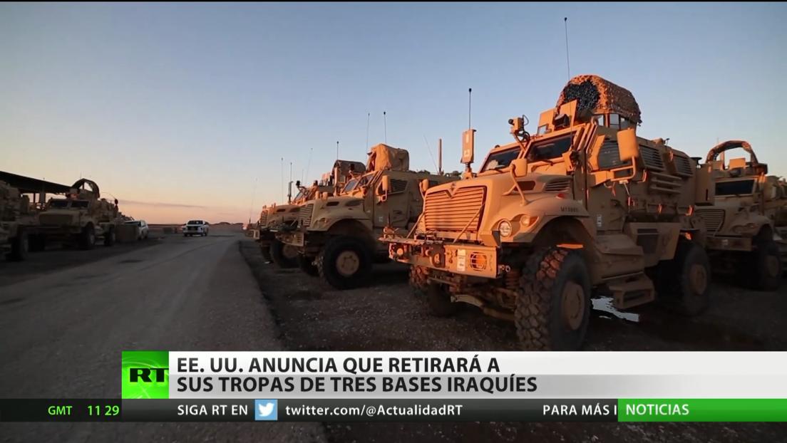 EE.UU. anuncia que retirará sus tropas de tres bases militares en Irak