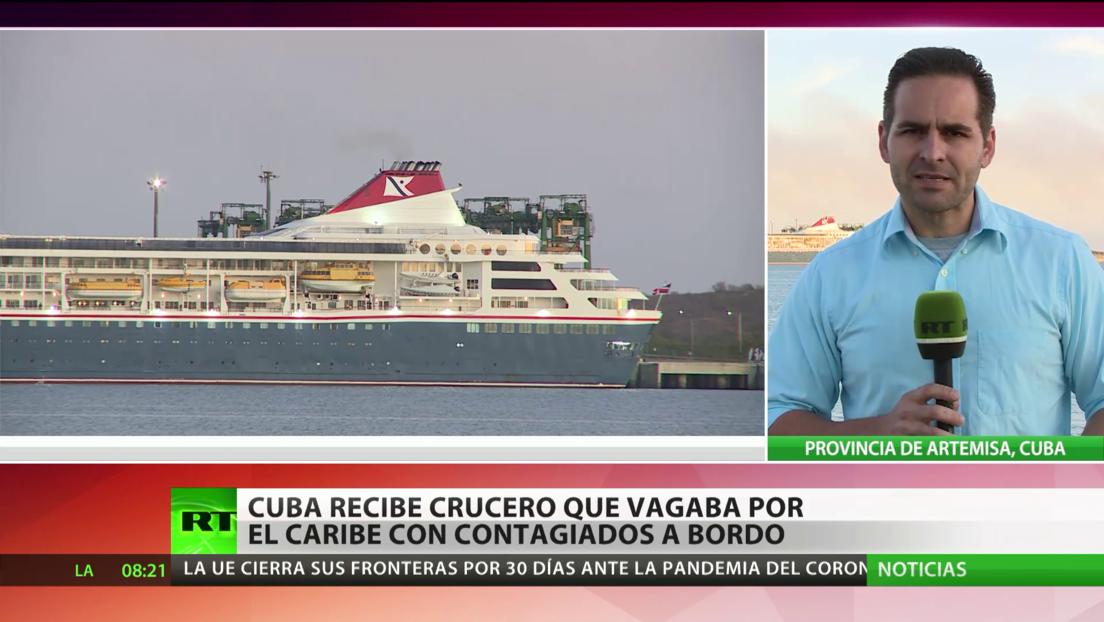Cuba recibe crucero británico que vagaba por el Caribe con contagiados de covid-19 a bordo