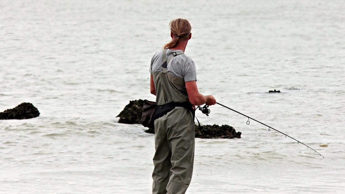 FOTO: Un pescador lucha 15 minutos para sacar del agua un mero gigante de 100 kilogramos