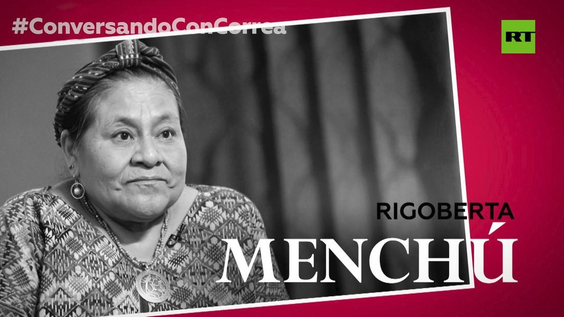 """Rigoberta Menchú a Correa, sobre la esclavitud moderna: """"Los derechos de los pueblos indígenas no están en agenda"""""""
