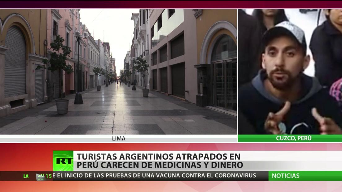 Turistas argentinos atrapados en Perú por la cuarentena carecen de medicinas y de dinero