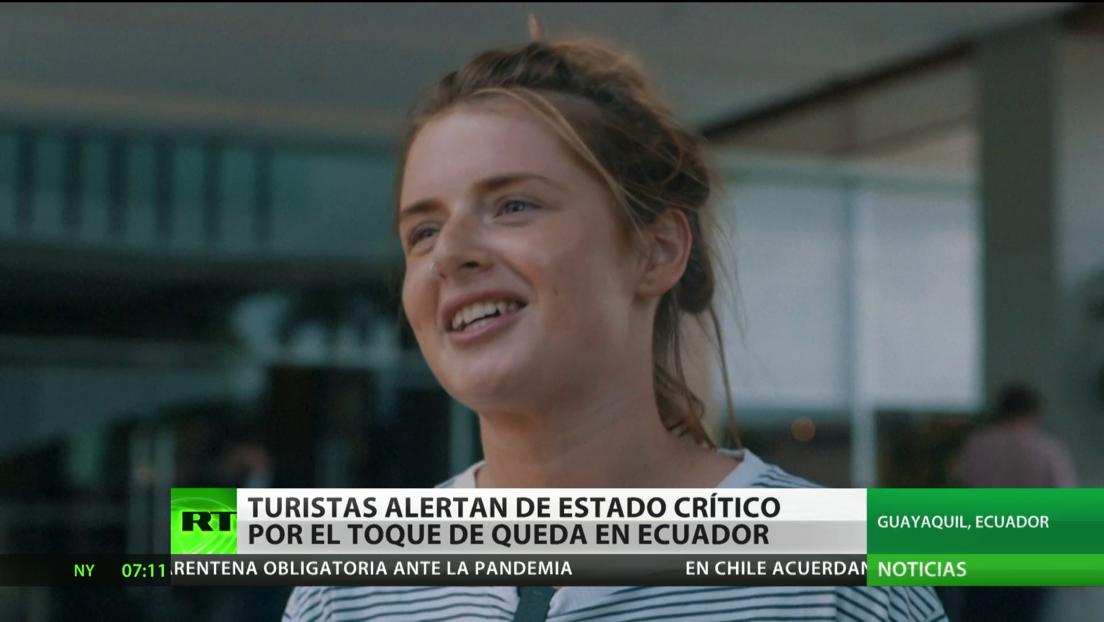 Turistas en Ecuador expresan preocupación por el toque de queda debido al coronavirus