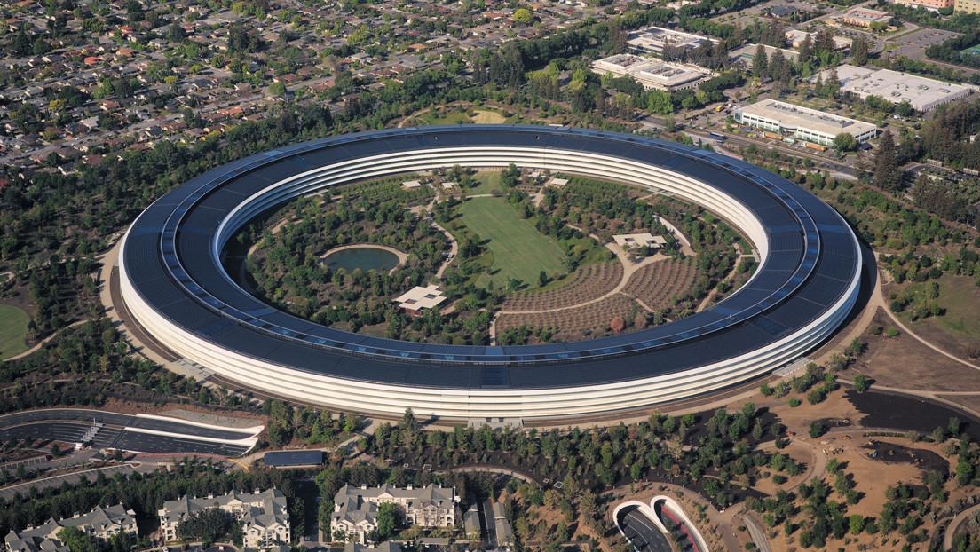 VIDEO: La sede de Apple, desierta y en cuarentena por el coronavirus, a vista de dron