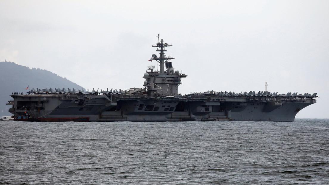 Tres marineros a bordo de un portaviones estadounidense dan positivo por coronavirus