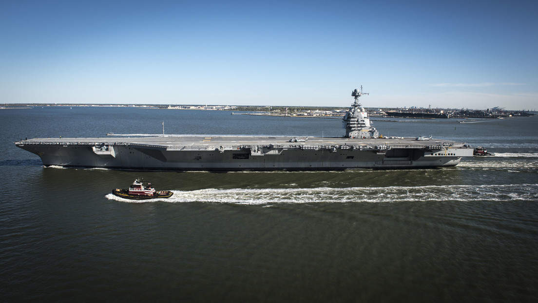 El portaviones más avanzado del mundo, USS Gerald R. Ford, tiene un inesperado problema con sus inodoros