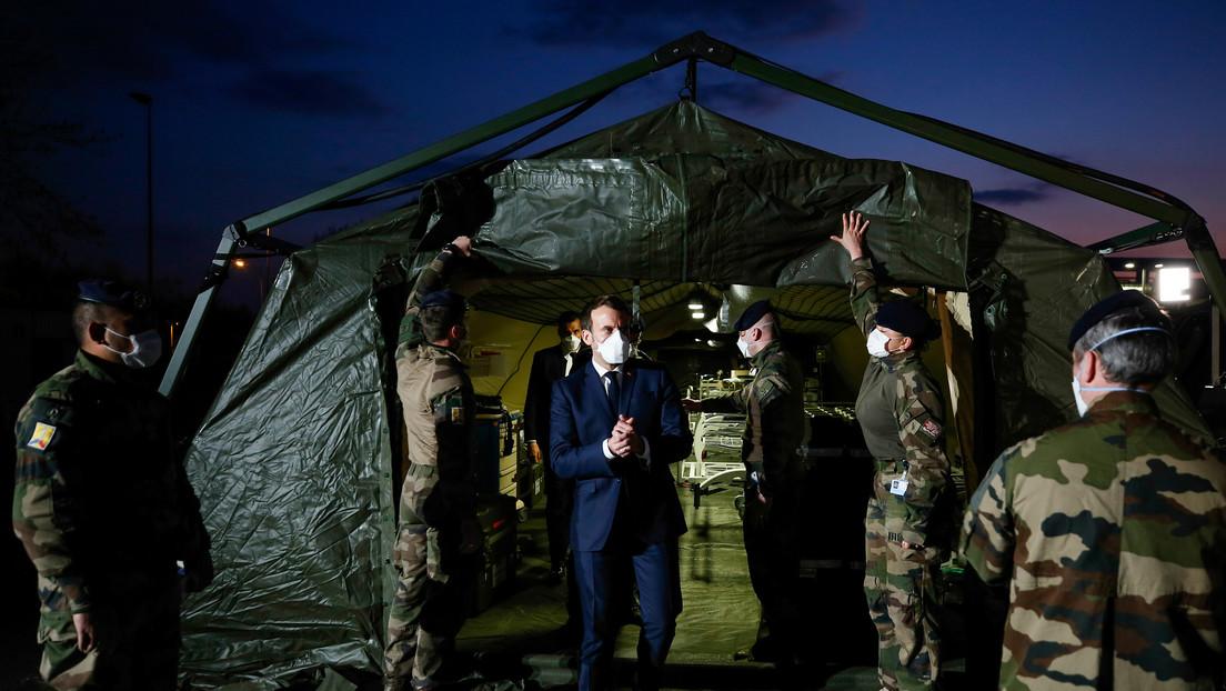 Macron lanza la operación militar 'Resiliencia' para ayudar a la población ante el coronavirus