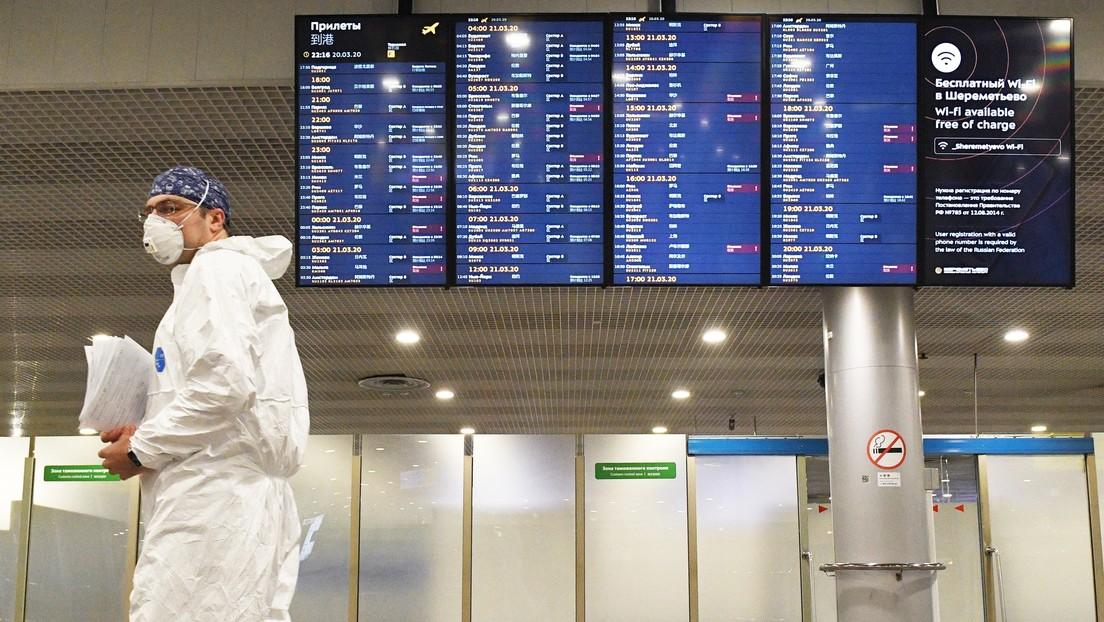 El Gobierno ruso ordena suspender todos los vuelos regulares y chárter desde y hacia el país a partir del 27 de marzo