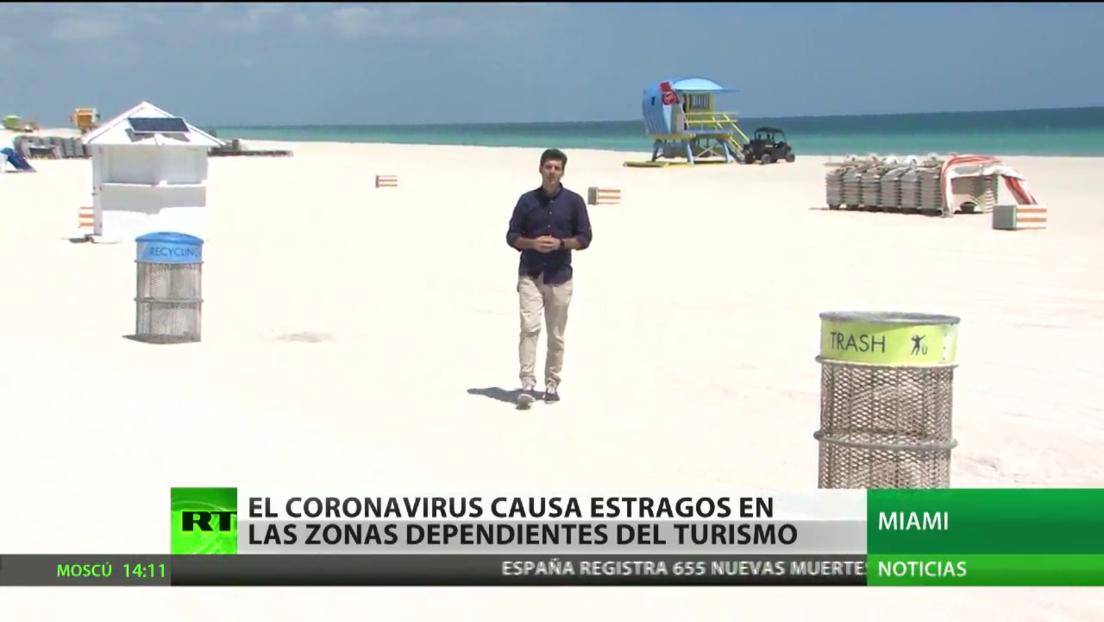 El coronavirus causa estragos en las zonas dependientes del turismo en EE.UU.