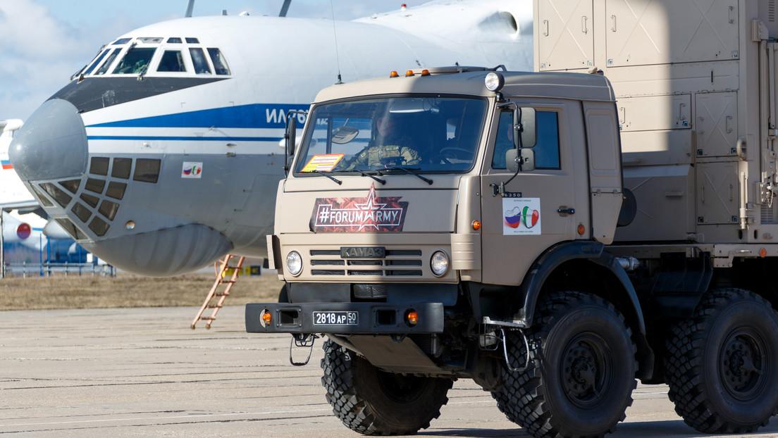 El diario La Stampa tacha de inútil el 80 % de la ayuda que Rusia proporciona a Italia y Moscú responde