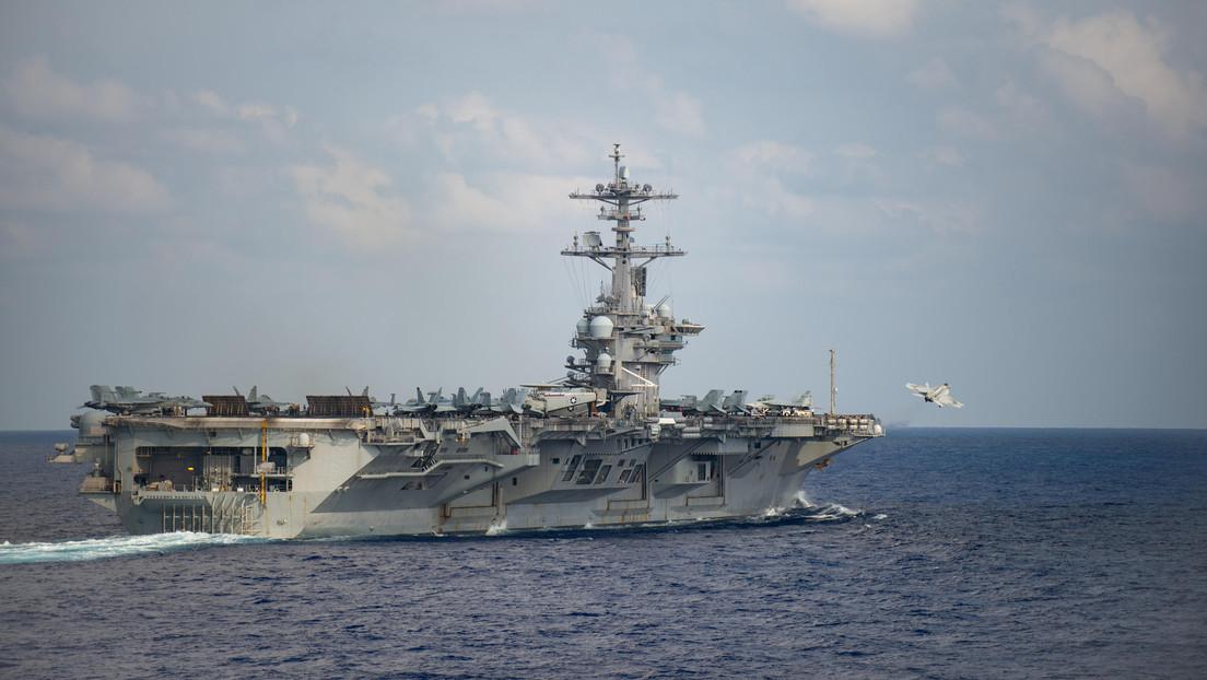 Aíslan un portaviones estadounidense por un brote de coronavirus a bordo