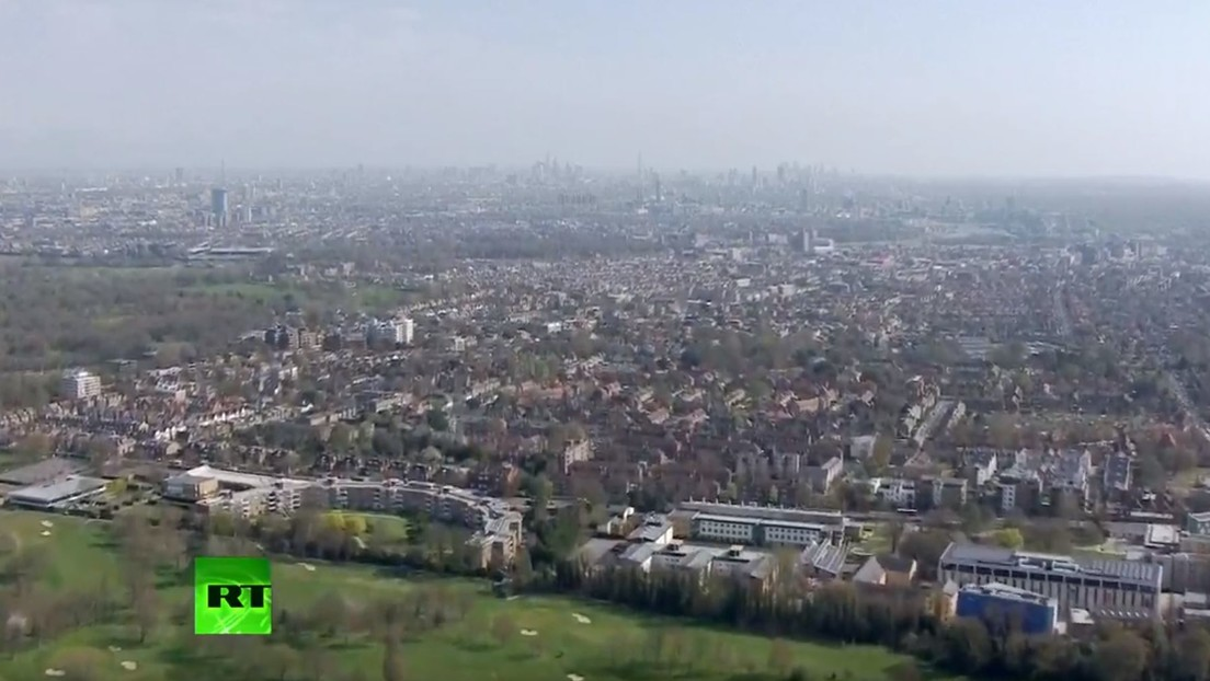 VIDEO: Imágenes aéreas de Londres en medio de la pandemia del coronavirus