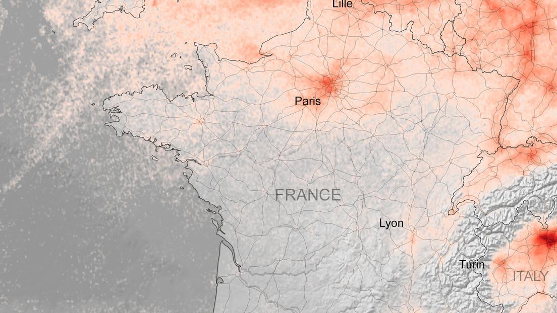 FOTOS: Imágenes desde el espacio muestran la rápida caída de la contaminación en Italia, España y Francia mientras el covid-19 afecta a Europa