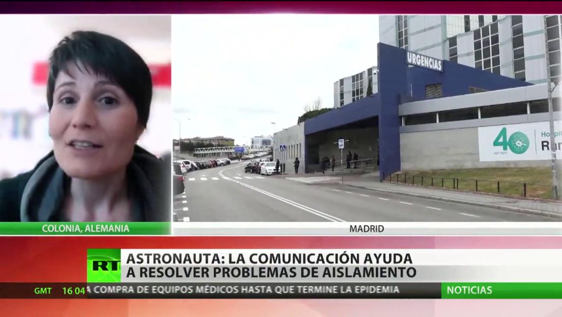"""Astronauta italiana: """"La comunicación ayuda a resolver problemas de aislamiento"""""""