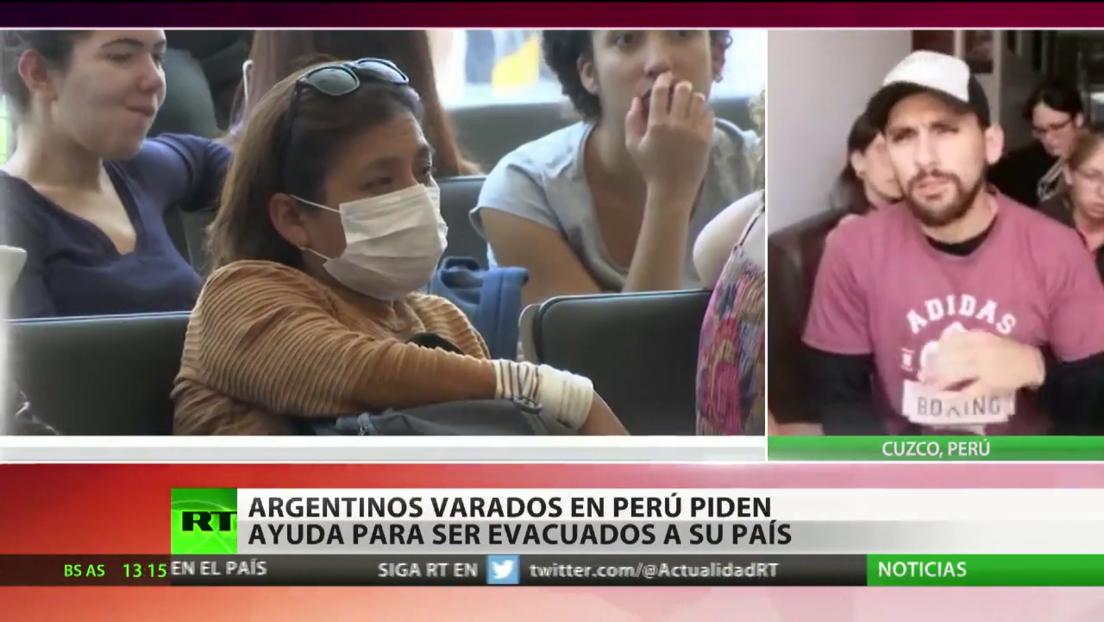 Argentinos varados en Perú piden ayuda para ser repatriados
