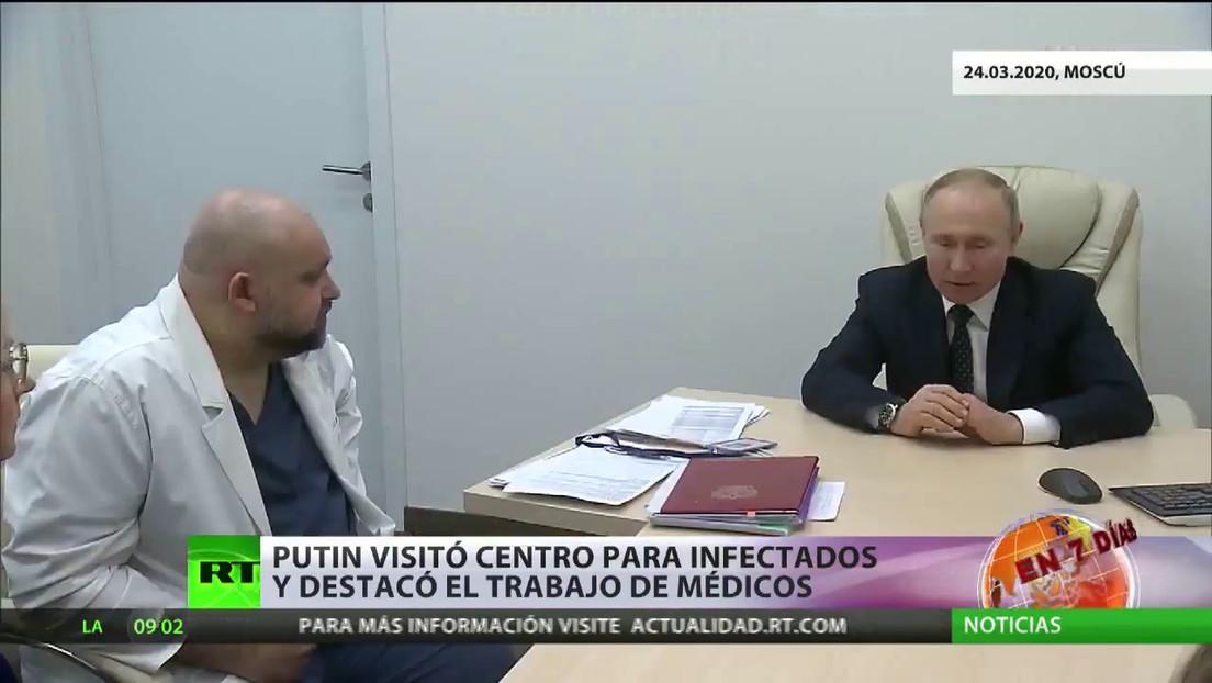 """Putin declara """"no laborales"""" en Rusia el periodo entre el 28 de marzo y el 5 de abril"""