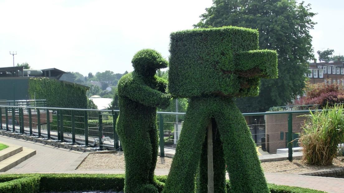 En Reino Unido, un hombre se disfraza de arbusto para evadir el aislamiento (+ Video)