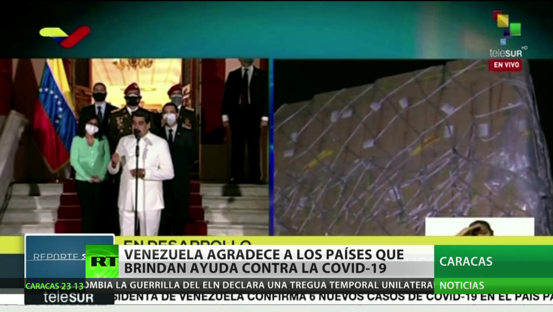 Venezuela agradece a los países que le prestan ayuda contra el coronavirus