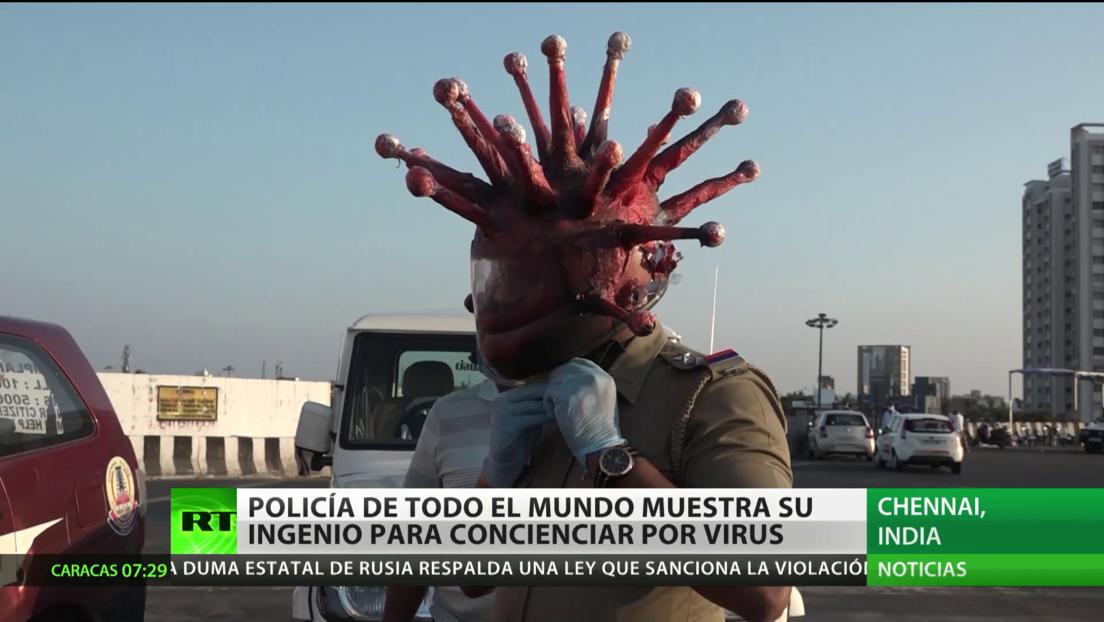 Policía de todo el mundo muestra su ingenio para concienciar a la población sobre covid-19