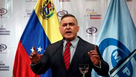 El fiscal de Venezuela, Tarek William Saab, durante conferencia de prensa en Caracas. 6 de agosto de 2018.