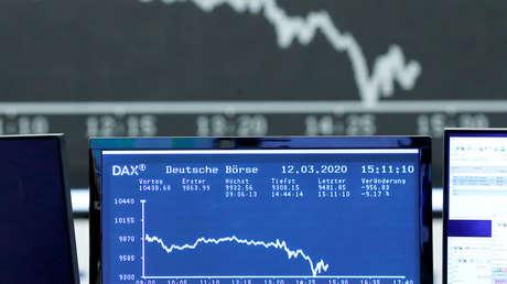Las bolsas europeas cierran con la peor caída en un día por los temores al coronavirus