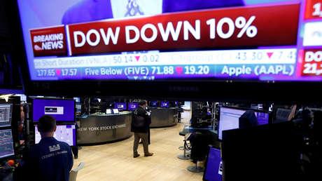 Las bolsas de EE.UU. vuelven a caer como consecuencia de la crisis por el coronavirus
