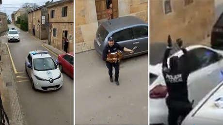 VIDEO: Policías españoles cantan y bailan para animar a los vecinos durante la cuarentena por el coronavirus