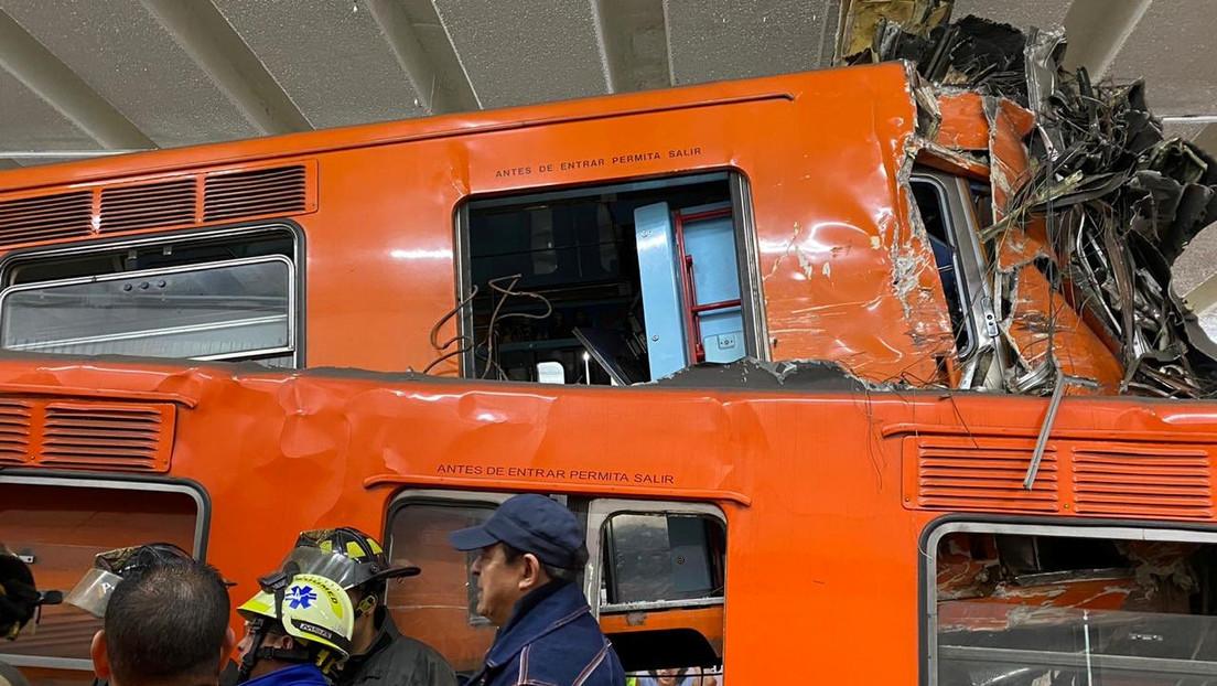 """Fiscalía mexicana determina que el choque de trenes en el Metro, que dejó un muerto, fue ocasionado por """"omisiones"""""""