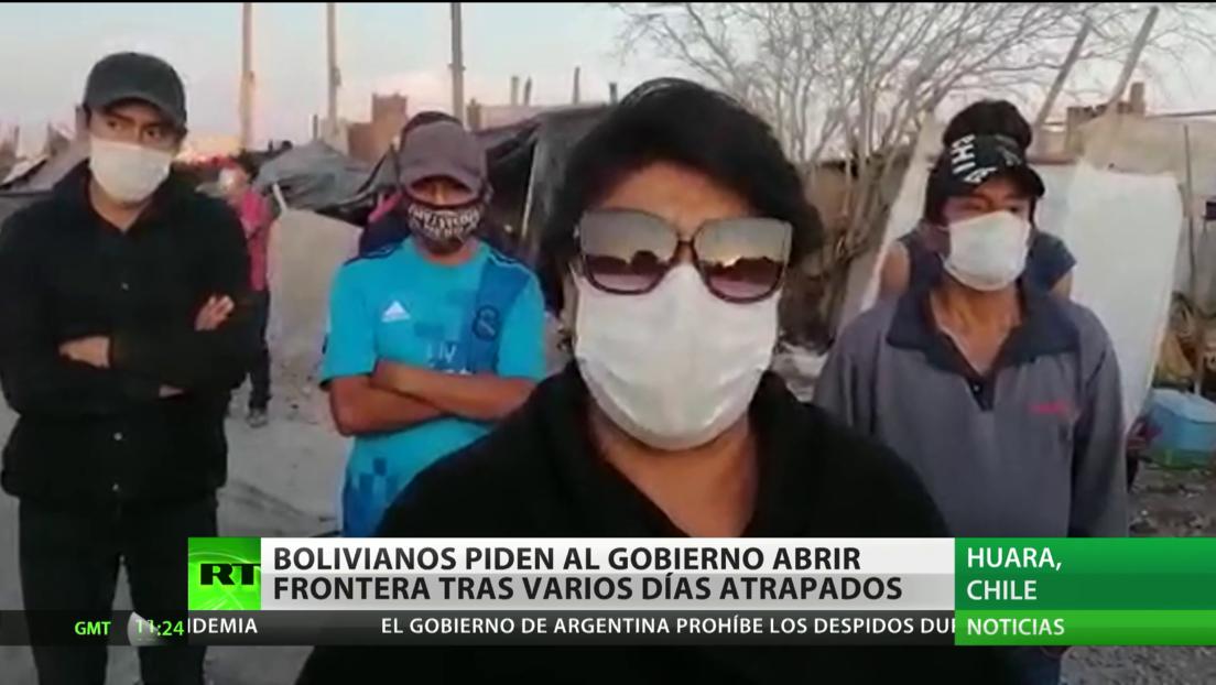 Bolivianos varados en Chile piden a las autoridades de su país que les abran la frontera