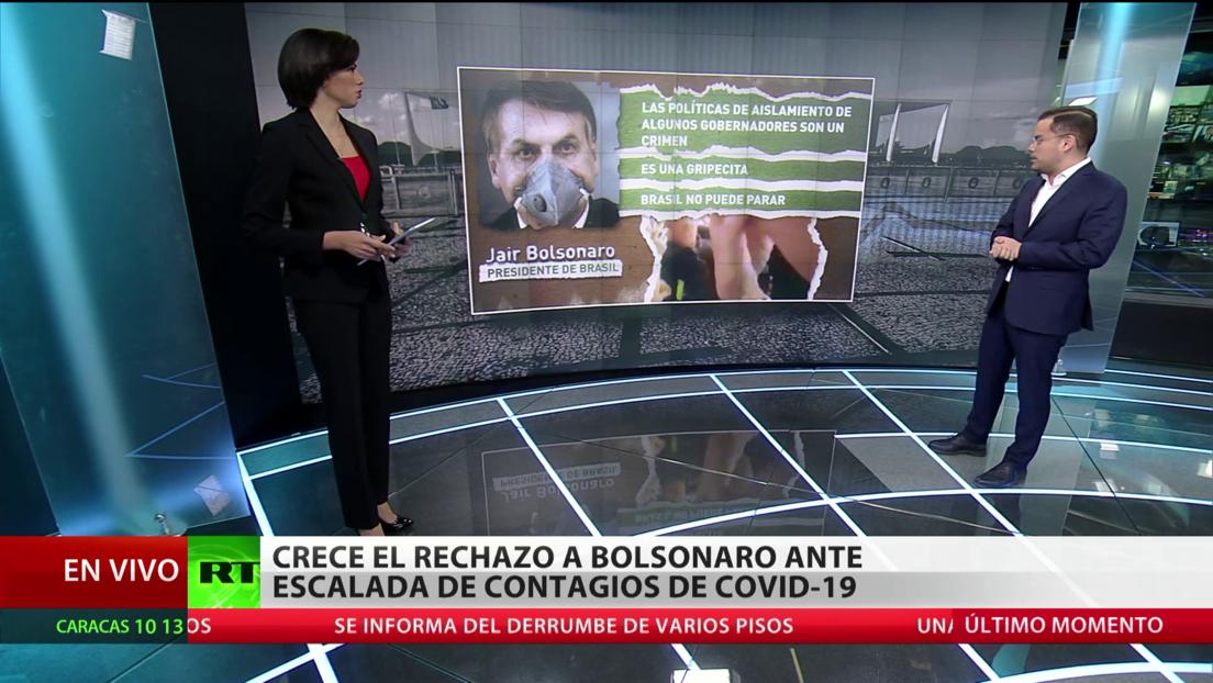 Crece en Brasil el rechazo a Bolsonaro ante la escalada de contagios por covid-19
