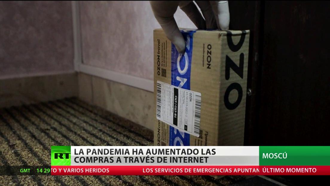 La pandemia del coronavirus dispara en Rusia la demanda de compras en línea