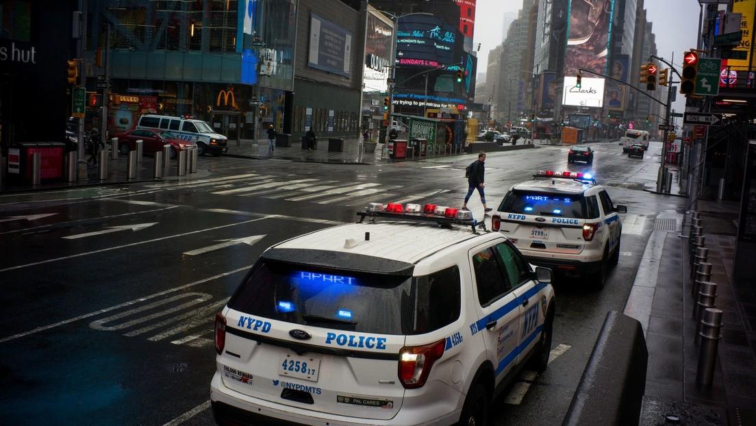 VIDEO: Times Square en tiempos del coronavirus en Nueva York