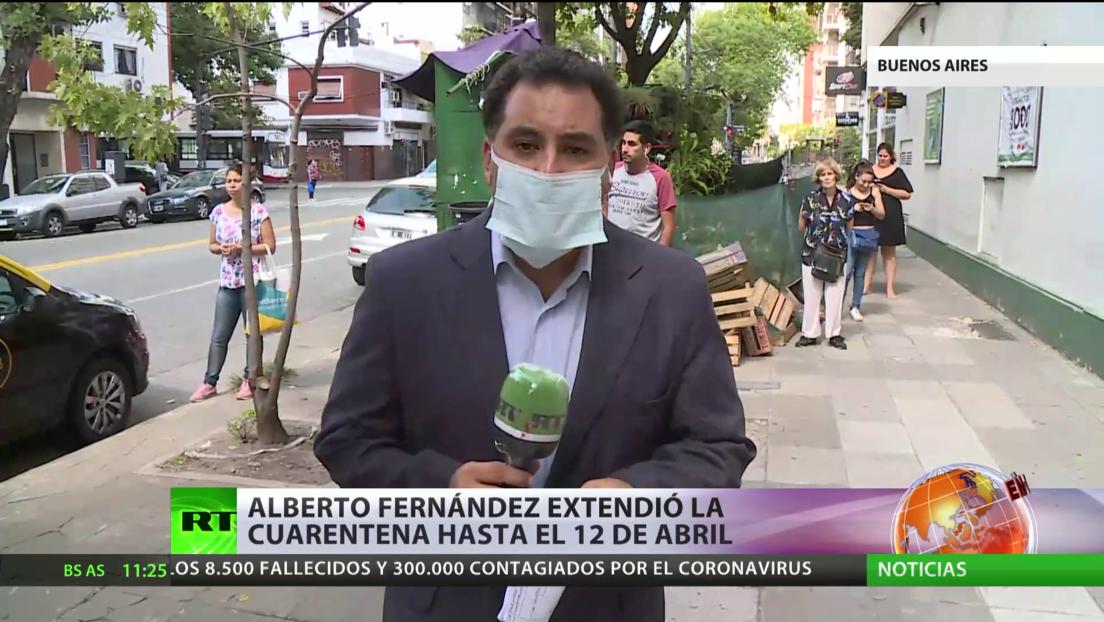 Argentina amplía la cuarentena por el covid-19, que ha dejado 44 muertes y más de 1.400 infectados