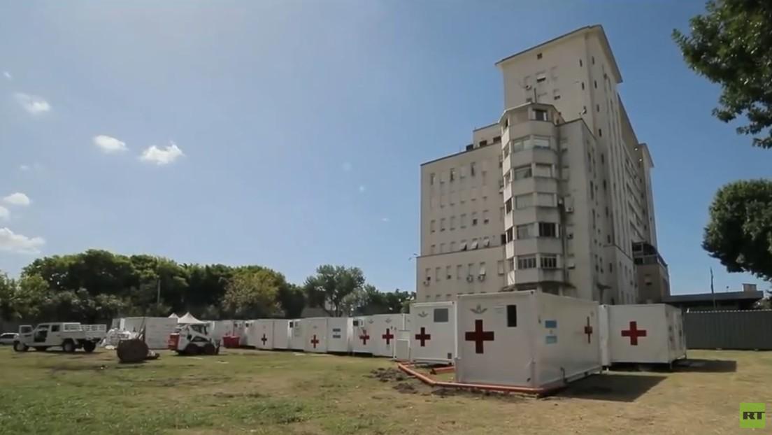 VIDEO: Así es el hospital militar reubicable de Argentina que está listo para recibir enfermos de covid-19