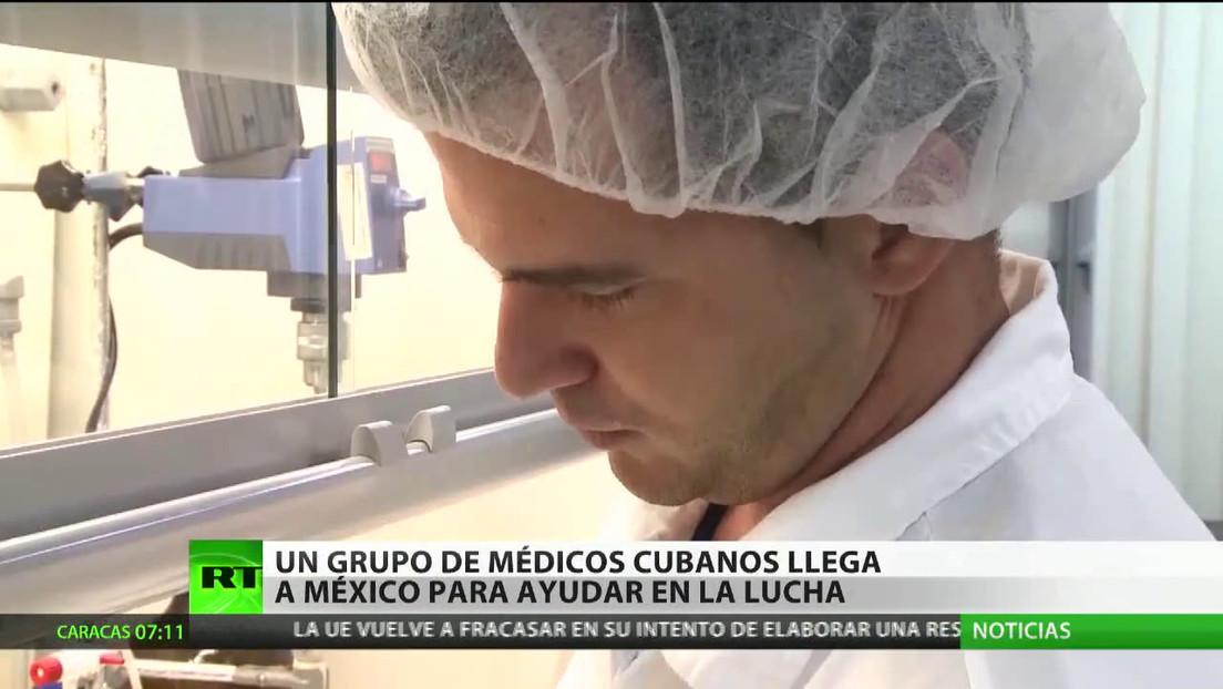 Médicos cubanos llegan a México para ayudar a combatir la propagación del covid-19
